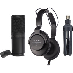 Zoom ZDM-1 Podcast Mic Pack with He